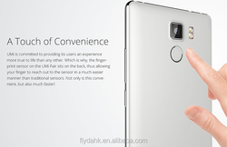 Latest Hot UMI Fair Mobile Phone Android 5.1 MTK6735 Quad Core 4G lte GPS OTG Fingerprint smart phone.