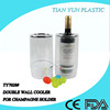 Double wall plastic cheap bucket champagne with frosty surface for one champagne and beer holder