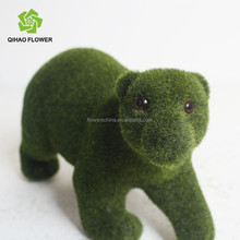 Realistic grass bear artificial bear decorative bear animals for landscaping decoration