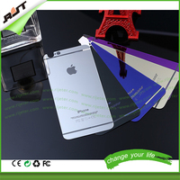 Retail one set Mirror Effect color screen protector for iphone 4