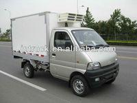 Euro 4 mini gasoline refrigerator van frezeer truck