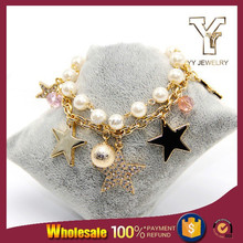 Pearl Bracelet Gold Multi Chain Superstar Jewelry