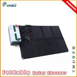 80W portable folding solar panel/solar panel bag for outdoor,Climbing,camping