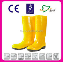 Industrial anti Oil PVC mining safety boots with steel toe