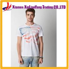 US national flag cotton blend polka dot jersey T-shirt Printed Tree Graphic T-Shirt