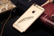 Original iSecrect PC+electroplating diamond case Shiny Bling Back Cover Case For iPhone 6 plus 5.5 MT-4459