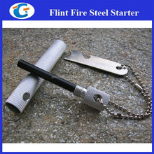 6 IN 1 Magnesium Flint Striker Stone Fire Steel Starter Camping Product