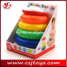 bebê dos desenhos animados coloridos toy primavera do arco-íris do bebê brinquedo de aprendizagem
