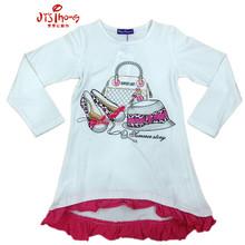 baby girls tshirts white clothing wholesale kids fashion t shirt 2015 design