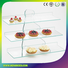 Clear acrylic cake display shelves