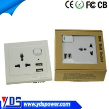 china supplier adapter usb wall socket with 5v usb port for all digital products