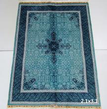 Modern dubai exporta oração tapetes / tapetes de seda feitos à mão rolos em estoque