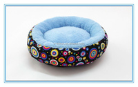Coral Fleece Canvas Dog Bed Pet Cushion for small animals
