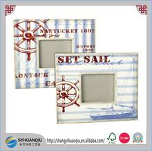 UV printing wooden nautical photo frame assortment 3'x3''