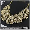 The hollow gold necklace female Zhang short sweater chain necklace with diamond jewelry wholesale