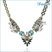 Latest New Jewelry Type Tope Quality Wholesale Lady Fashion Party Accessories Low MOQ indian cubic zirconia jewelry necklace set