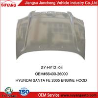 Suyang new developed metal spare parts engine hood apply to HYUNDAI SANTA FE 05