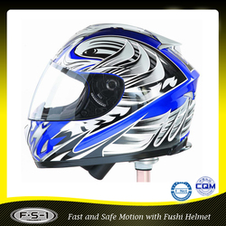 Stylish blue ABS chinese motorcycle / motorbike helmet full face
