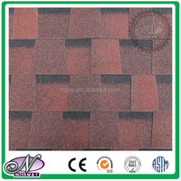 Colorful all kinds fiberglass asphalt shingle glaze asphalt shingles sale with high quality