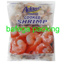 customized printing high quality frozen cooked shrimp plastic packing bag