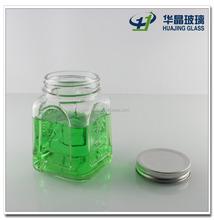 wholesale 450ml clear mason jar for storage jam and honey