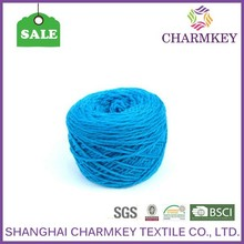 The best selling Charmkey good quality blue Color Super Chunky Knitting Wool Yarn