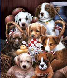Particular Cute Dogs 3D Lenticular Picture Decorative 3D Picture For Baby Room
