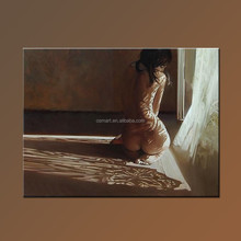 Good price and high quality sexy naked girl oil painting on canvas