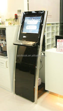 metal stent information kiosk with keyboard
