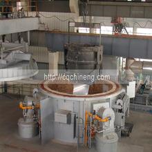 18T-100T gas type round roof regenerative aluminium melting furnace
