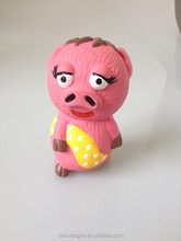 Cartoon Pigsy Character Latex Toy and Squeaky Natural Pet