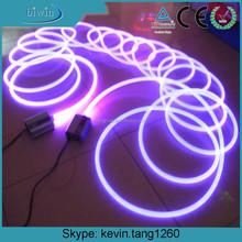 flexible plastic solid core side glow fiber optic RGB light