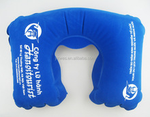 Travel inflatable neck cushion with personal print
