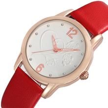 skone 9399 elegant ladies rose flower print watch