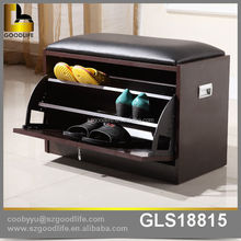 Contemporary Modern shoe cabinet with seat for shoe storage