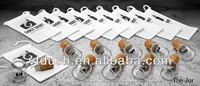 2014 new gadget miniature glass jar bottle Recycled wooden usb flash drive usb 2.0