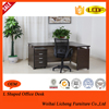Modern metal office table with wooden top/3 locking drawers