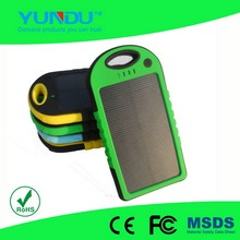outdoor travel waterproof solar charger with 5000mah top qulity solar panel