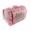 lovable pet carrier bag for small dog cat pink color