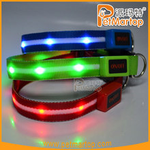 TZ-PET6100U rechargeable Dazzle Star Series glowing 100% nylon led collar