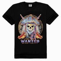 OEM 3d Printing Factory High quality old skull t-shirt, full-size printing t-shirt, custom printed t-shirt