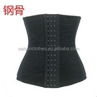 Cheap Sexy lace waist training steel bone cincher corset body shaper for women steel boned short corset