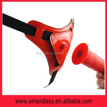 JP015 high quality sex toy new product one strap-on dildo with pump