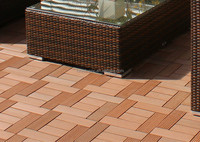 FRSTECH 600X600mm wpc plastic landscape timbers interlocking timber plastic coated timber