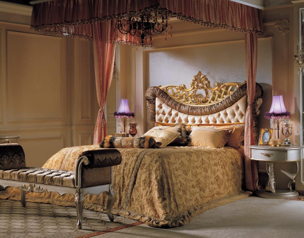 royal de luxe chambre coucher classique fran ais l gant lit mobilier de chambre romantique. Black Bedroom Furniture Sets. Home Design Ideas