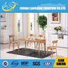 2014 Hot Sale Model: DT002 New design good quality solid wood top round wood dining table with wood leg