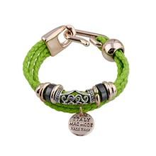 New PU Bracelet, Charms Wholesale custom Woven PU bracelet