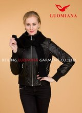Wholesale Cheap Patches Motorcycle Leather Jacket For Women