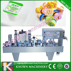 Automatic plastic cup sealer for small cups