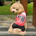 Labios Chaqueta F160 de cuatro patas de perro Ropa al por mayor de la estrella Perro Algodón Hermosa Mantenga Ropa Caliente